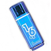 USB 16 Gb Smart Buy Glossy series Blue * Карта памяти
