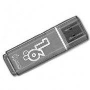 USB 16 Gb Smart Buy Glossy series Black * Карта памяти