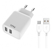 USB 2 2400 mA Rapid White * СЗУ TFN